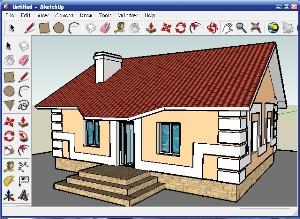 Экстерьер дома в SketchUp