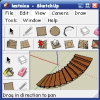 Sketchup. Лестница - часть третья.