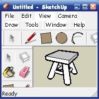 Sketchup  -  табурет