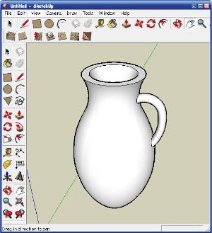 SketchUp - Тела вращения. Кувшин