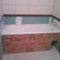 Укладка кафеля в ванной 2